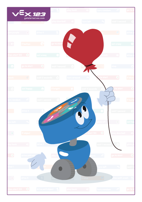123 Robothartballonnen
