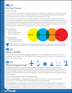Image of the VEX IQ Robotics Education Guide.