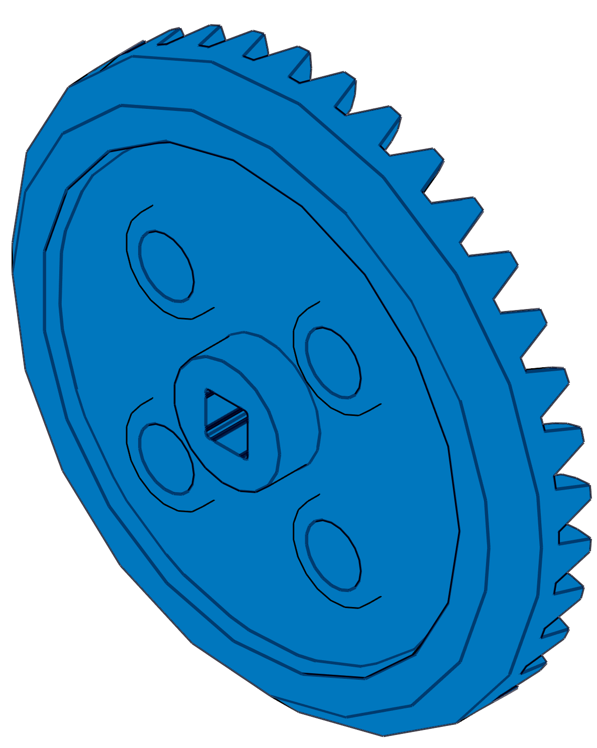 VEX IQ 36 Tooth Crown Gear